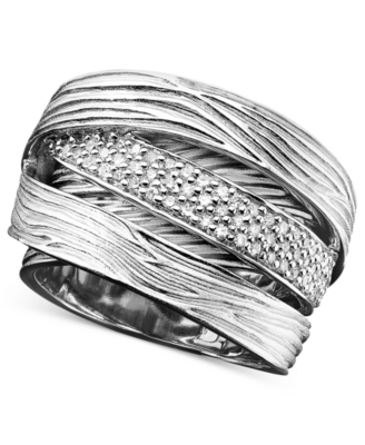 Sterling Silver Ring, Diamond Wrap (1/3 ct. t.w.)