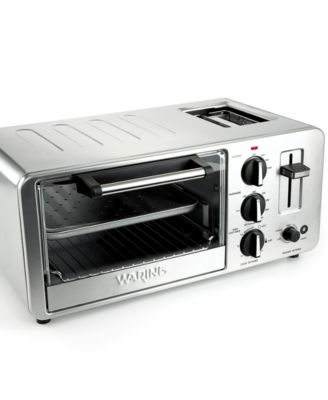 Waring WTO150 Toaster Oven, 4 Slice with Built-in Toaster
