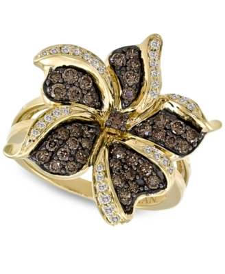 Le Vian 14k Gold Ring, Chocolate Diamond Flower (1 ct. t.w.)