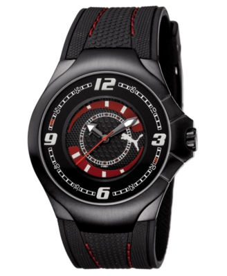 Puma Watch, Black Polyurethane Strap