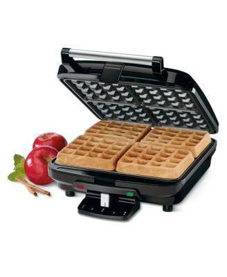 Cuisinart WAF100 Waffle Iron, 4 Slice Square Belgian