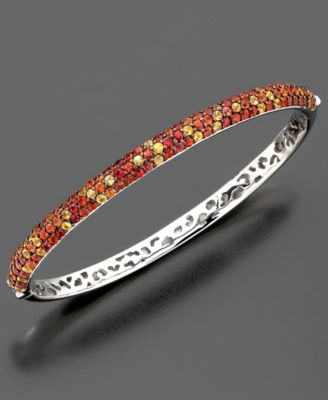 Sterling Silver Bracelet, Multicolored Sapphire Bangle (5 ct. t.w.)