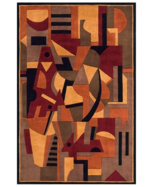 """Momeni Area Rug, New Wave NW-108 Pomegranate 2' 6"""" x 14' Runner"""