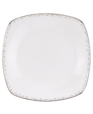 Lenox Lifestyle Dinnerware, Silver Mist Square Dinner Plate