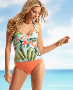 Tommy Bahama Swimsuit, Island Flower Tankini Top Women's Swimsuit