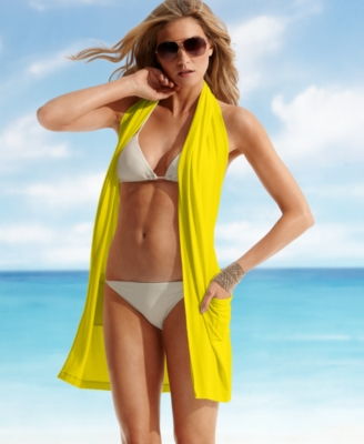 DKNY Swimsuit, Halter Cover Up Women's Swimsuit - Swimwear