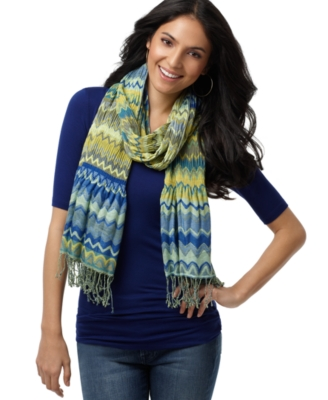 Collection XIIX Wrap, Pleated Zigzag