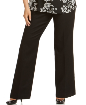 Charter Club Plus Size Pants, Straight Leg