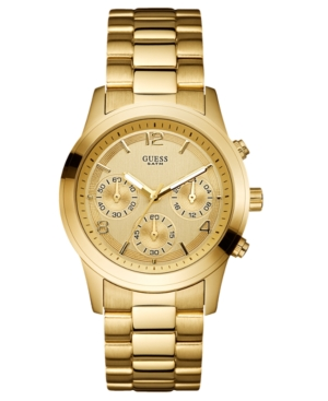 GUESS Watch, Women's Chronograph Gold-Tone Stainless Steel Bracelet 39mm U13578L1