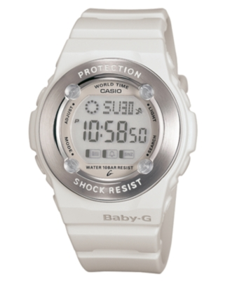 Baby-G Watch, Women's White Resin Strap BG1300-7