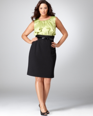 Alfani Plus Size Dress, Sleeveless Ruffled with Belt