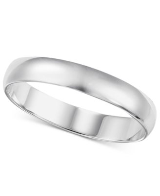 14k White Gold Ring, 4 mm Band (Size 4-8)
