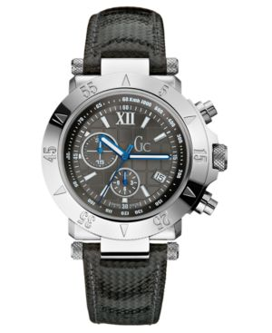Gc Swiss Made Timepieces Watch, Men's Chronograph Carbon Fiber Strap G47001G2