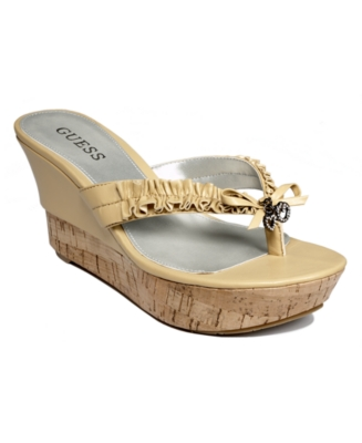 Guess Shoes, Pittery Wedge Sandals Women's Shoes