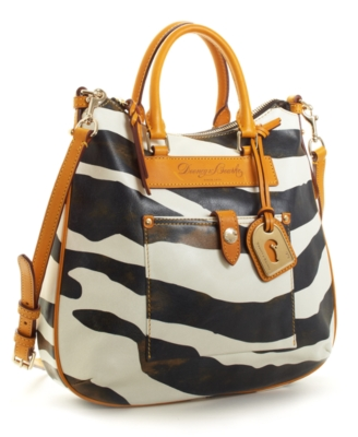 Dooney & Bourke Handbag, Zebra Tear Drop Hobo