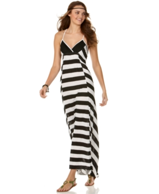 Roxy Dress, Sunset Stripe Empire Maxi