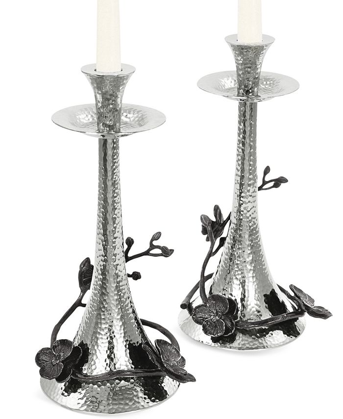 Michael Aram - Candle Holders, Set of 2 Black Orchid