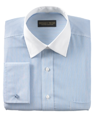 Donald Trump Dress Shirt, Blue Stripe French Cuff