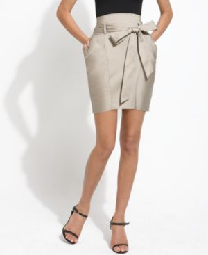 BCBGMAXAZRIA Skirt, High Waisted Belted Pencil
