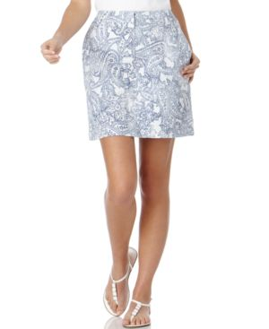 Karen Scott Skort, Distressed Paisley - Karen Scott