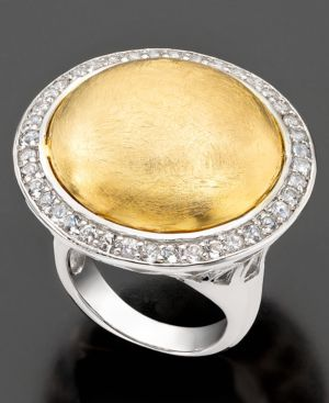 Vermeil Ring, White Topaz (3/4 ct. t.w.)