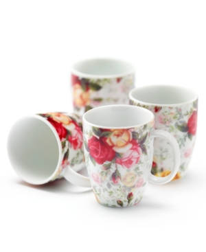 Royal Albert Dinnerware, Set of 4 Country Rose Chintz Mugs