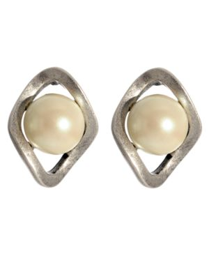Kenneth Cole New York Earrings, Acrylic Pearl
