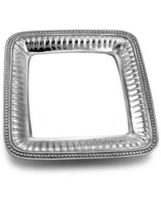 Wilton Armetale Flutes and Pearls Square Tray