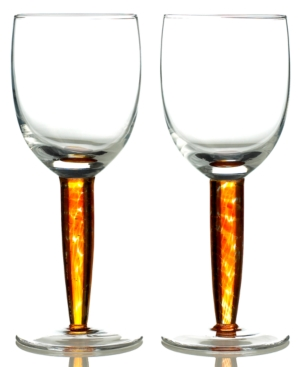 Denby Glassware, Set of 2 Fire Red Wine Glasses