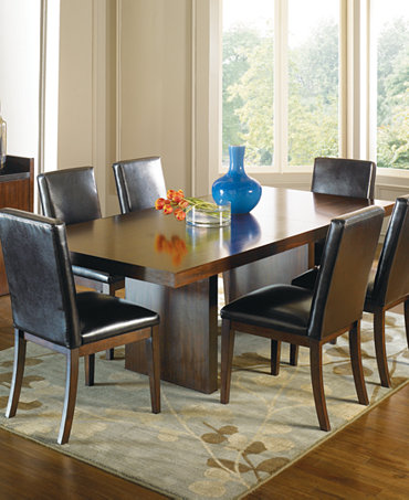 Corso Dining Room Furniture 9 Piece Set Table And 8 Brown Chairs Furnitu