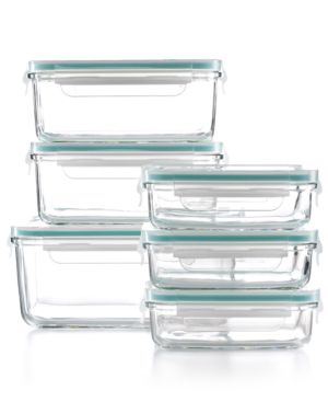 Martha Stewart Collection 12 Piece Glass Food Storage Container Set, Only at Macy's