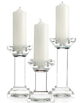 Lighting by Design Candle Holders, Set of 3 Metropolitan Pillar