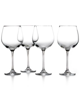 CLOSEOUT! Martha Stewart Collection Glassware, Set of 4 Waterman Red Wine Glasses