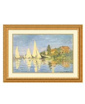 Amanti Art Wall Art, Boating at Argenteuil 1872 Framed Art Print by Claude Monet