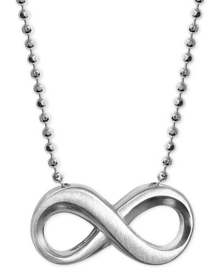 Alex Woo - Infinity Pendant Necklace in Sterling Silver