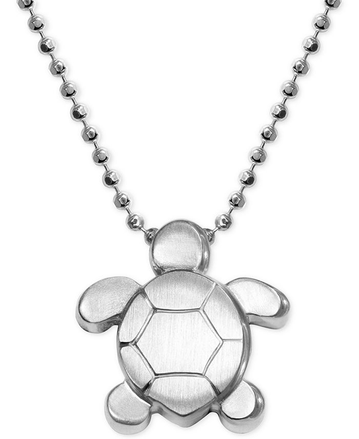 Alex Woo - Turtle Pendant Necklace in Sterling Silver