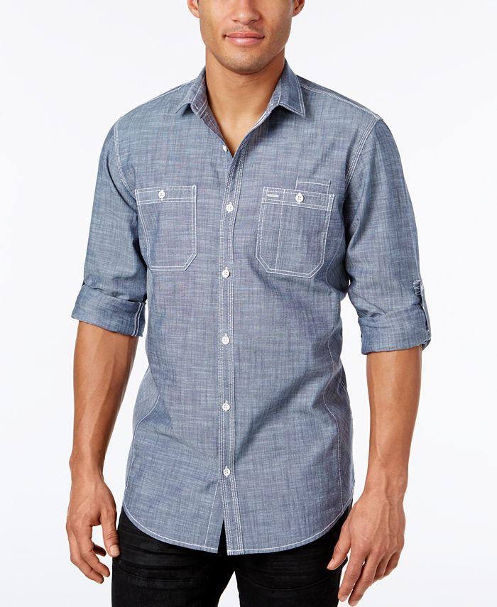 INC International Concepts - Men's Chambray Dual-Pocket Shirt