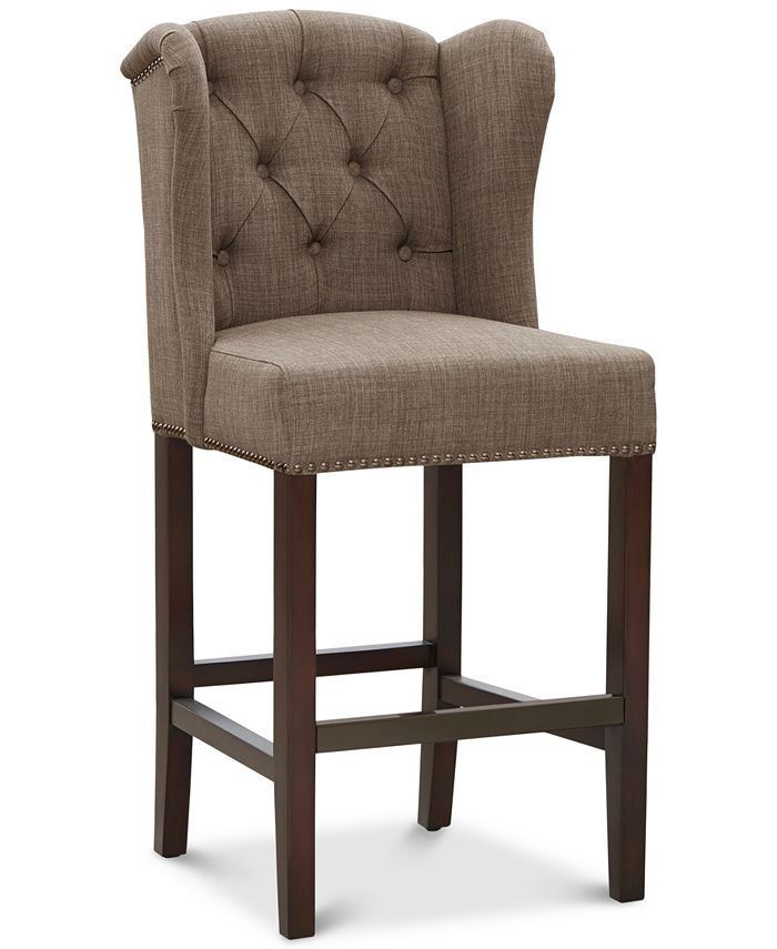 Furniture - Lindley Tufted Wing Counter Stool, Direct Ship