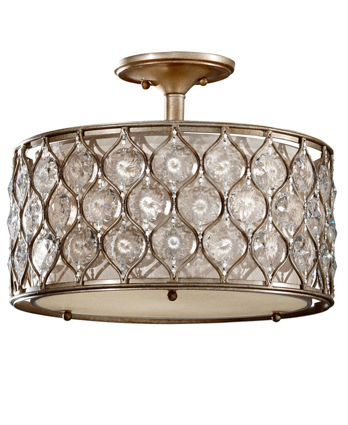 Feiss - Lucia Collection Semi Flush Crystal Ceiling Fixture