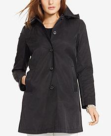 Lauren Ralph Lauren Plus Size Hooded Trench Coat, Created for Macy's
