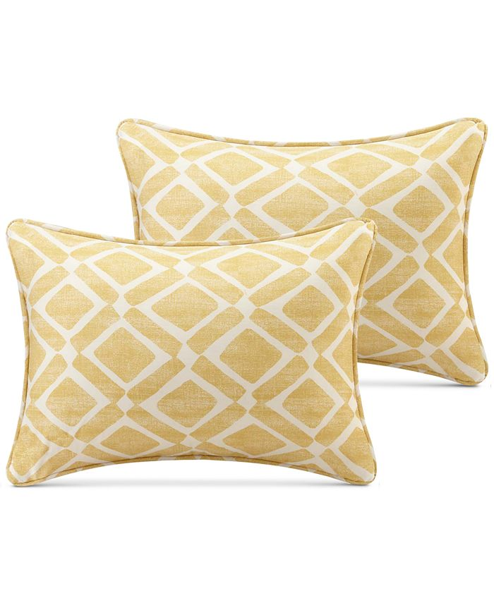 Madison Park Delray Diamond Print 14 X 20 Pair Of Oblong Decorative Pillows Reviews Decorative Throw Pillows Bed Bath Macy S