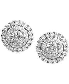 Bouquet by EFFY® Diamond Cluster Stud Earrings (3/4 ct. t.w.) in 14k White Gold