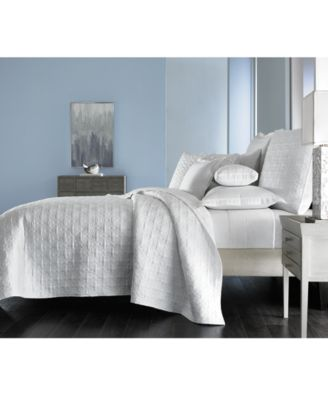 Embroidered Frame Quilted Twin Coverlet, Created for Macy's