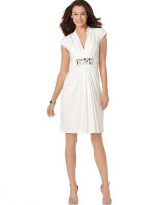 Maggy London Dress, Beaded Strap Empire Waist