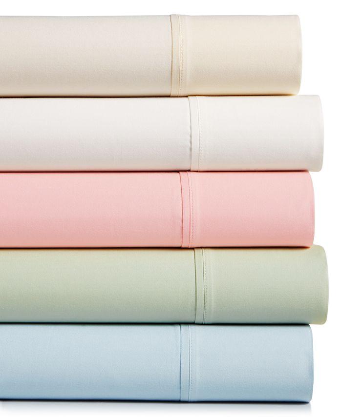 Sunham - Bleecker Cotton Sateen 410 Thread Count 4-Pc. King Sheet Set