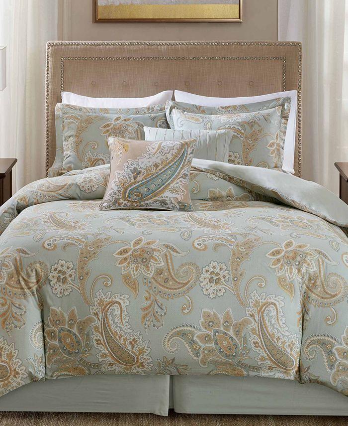 Harbor House - Sienna Reversible 6-Pc. Paisley-Print Queen Comforter Set