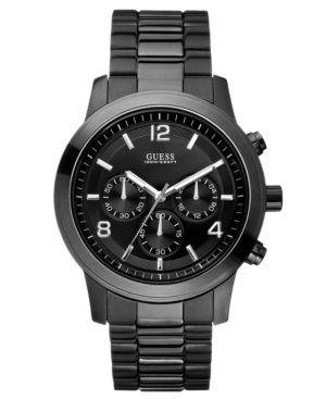 GUESS Watch, Men's Chronograph Bold Contemporary Black Ion Plated Stainless Steel Bracelet 38mm U15061G1