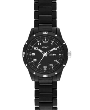Sprout Watch, Eco Friendly Black Corn Resin Bracelet ST-3100BKBK