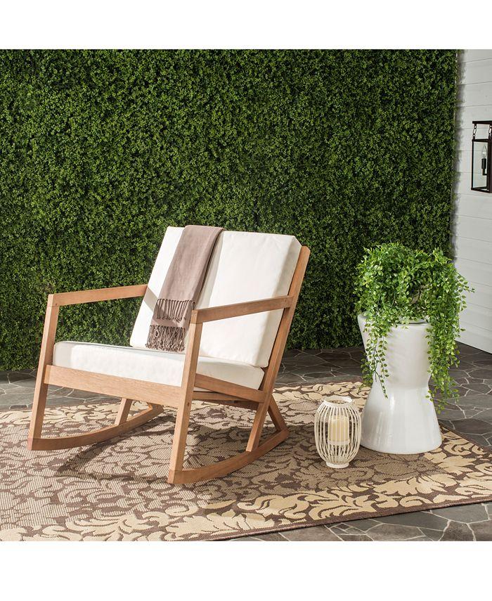 Safavieh - Nicksen Outdoor Rocking Chair, Quick Ship