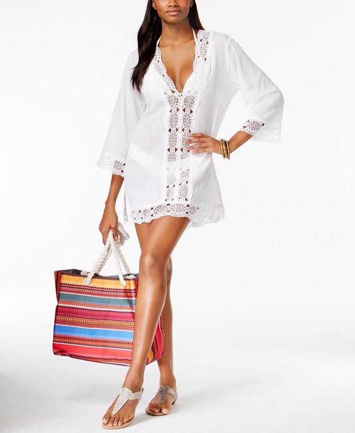 La Blanca - Cotton Crochet-Trimmed Tunic